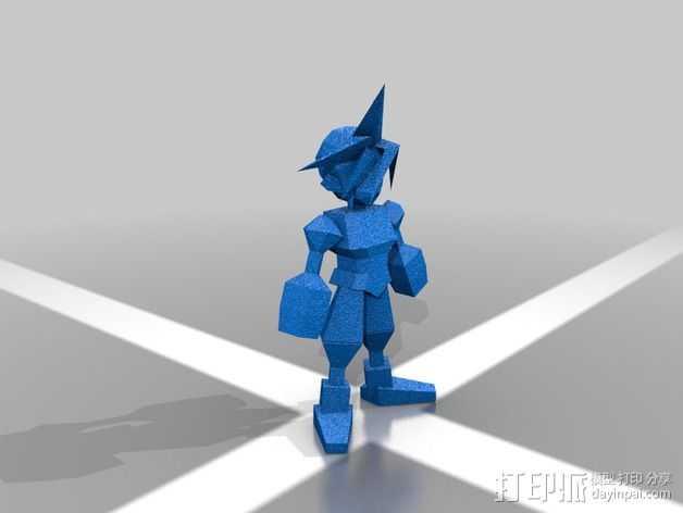 最终幻想7摆件 3D打印模型渲染图