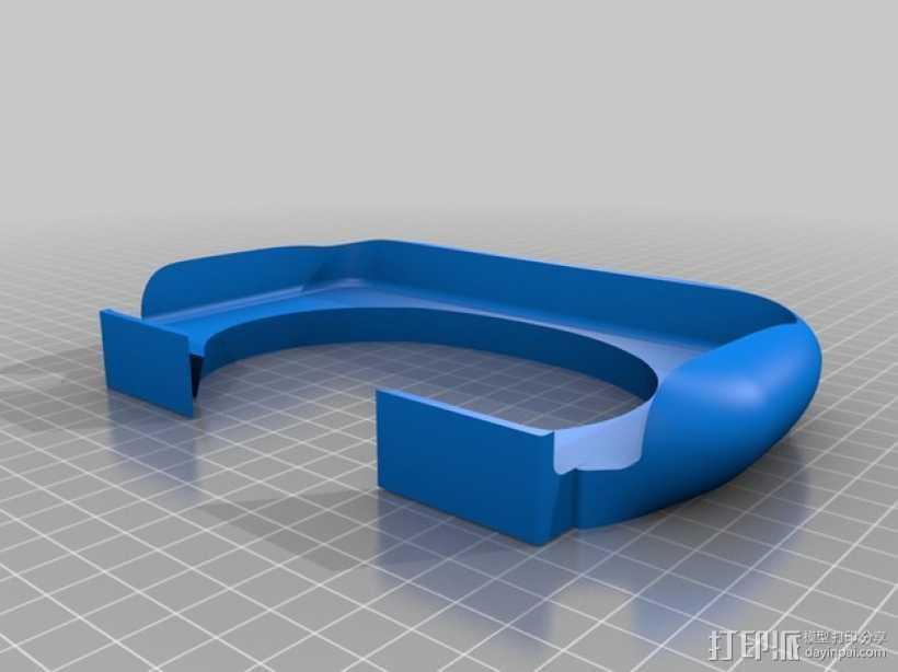 3DS XL游戏机座 3D打印模型渲染图