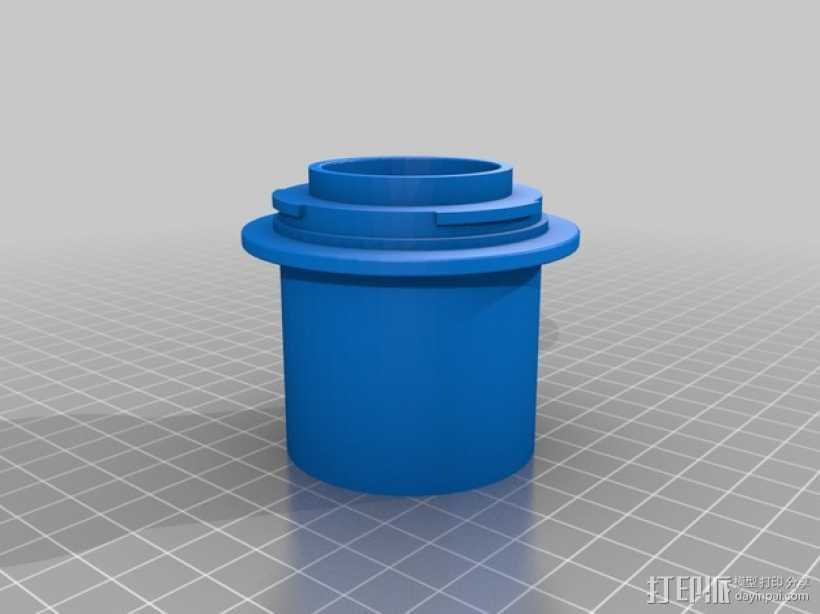 Canon EF适配器 3D打印模型渲染图