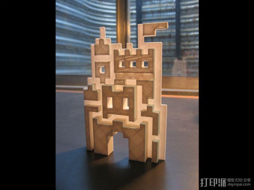 SMB3城堡摆件 3D打印模型渲染图