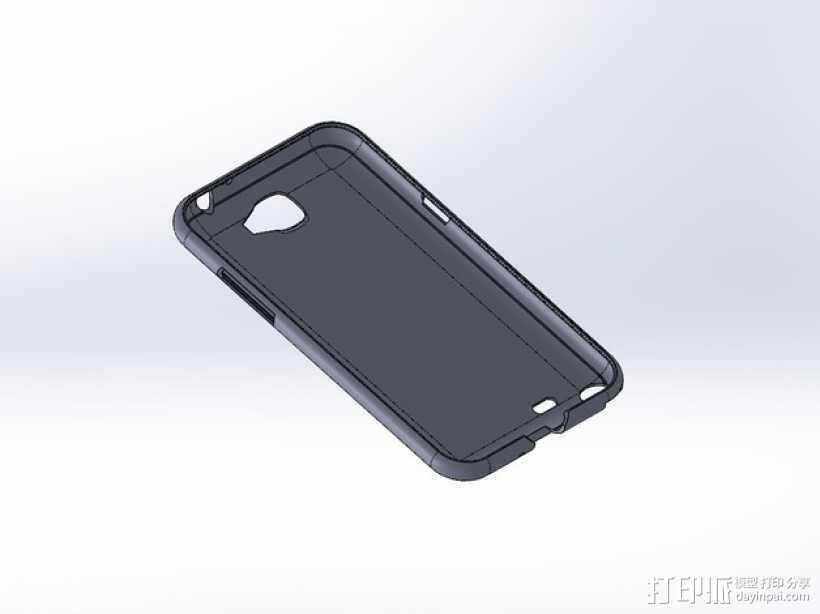 Samsung Galaxy Note 2手机壳 3D打印模型渲染图
