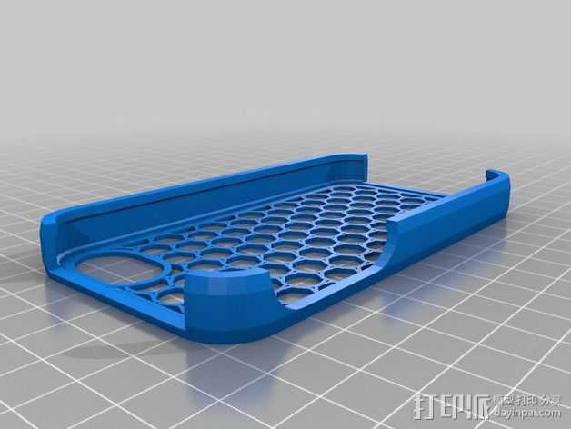 七边形手机座 3D打印模型渲染图
