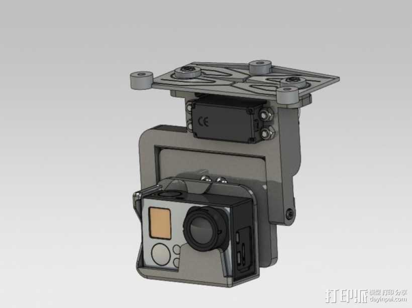 GoPro HERO3相机适配器 3D打印模型渲染图