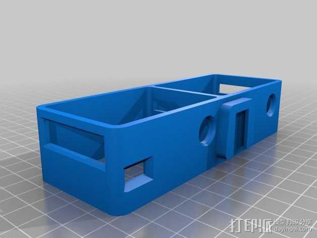 GoPro Hero 2 3D框架 3D打印模型渲染图