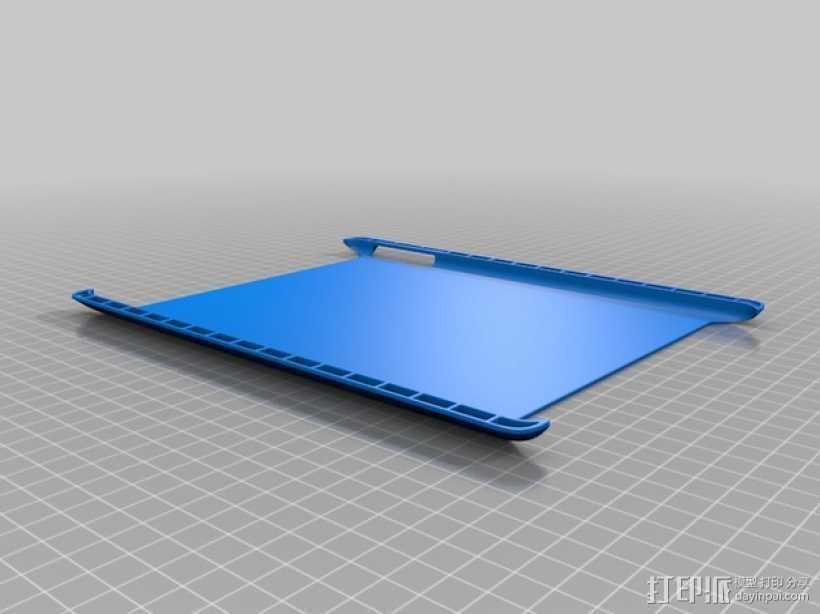 iPad Air保护壳 3D打印模型渲染图