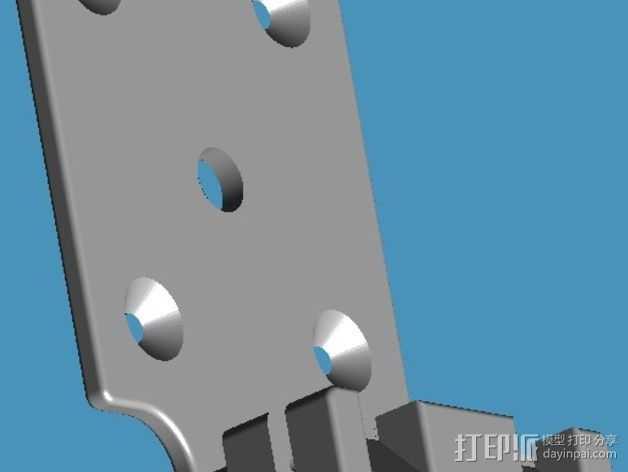iPhone5手机座 3D打印模型渲染图