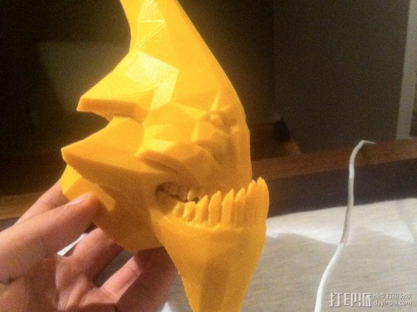 Sand King head摆件 3D打印模型渲染图