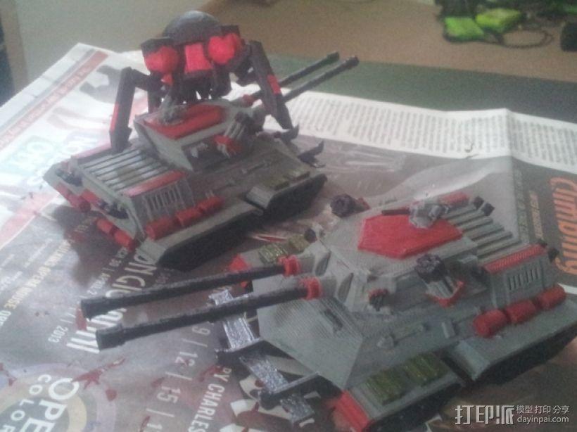 坦克摆件 3D打印模型渲染图