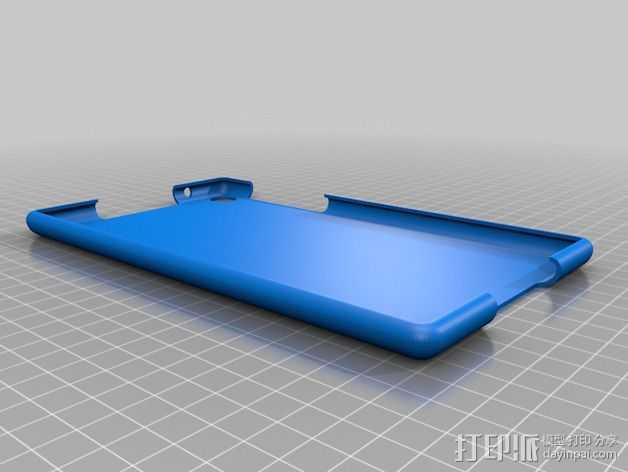 Nexus 7 手机壳 3D打印模型渲染图