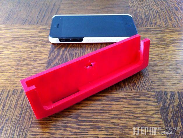 Iphone 5车载手机座 3D打印模型渲染图