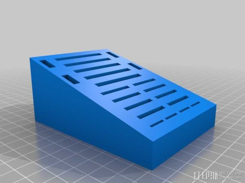 SD卡存储区 3D打印模型渲染图