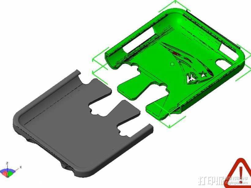 iPod保护壳 3D打印模型渲染图