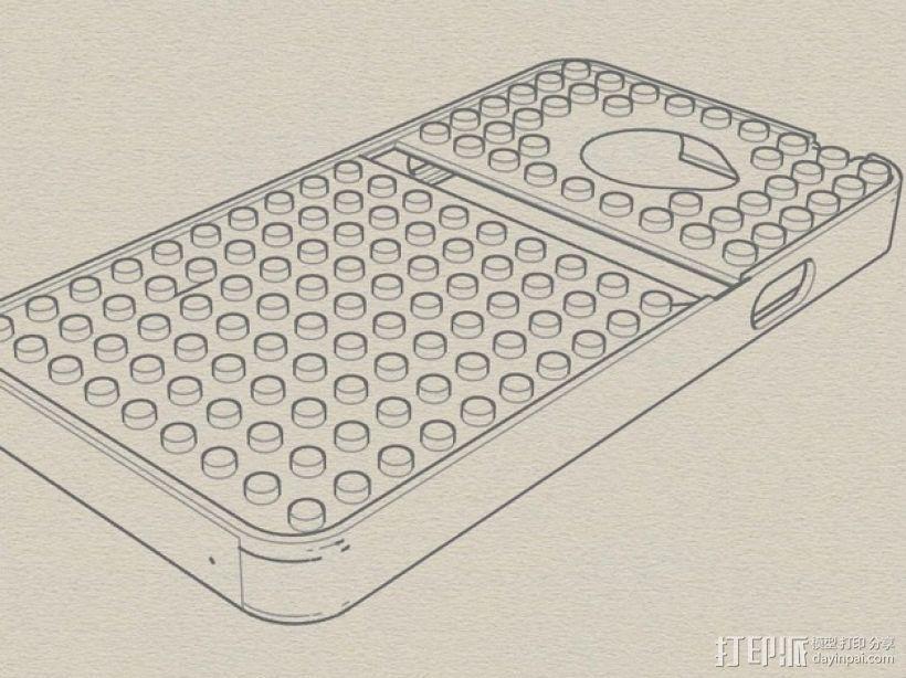 HTC EVO 乐高质地手机壳 3D打印模型渲染图