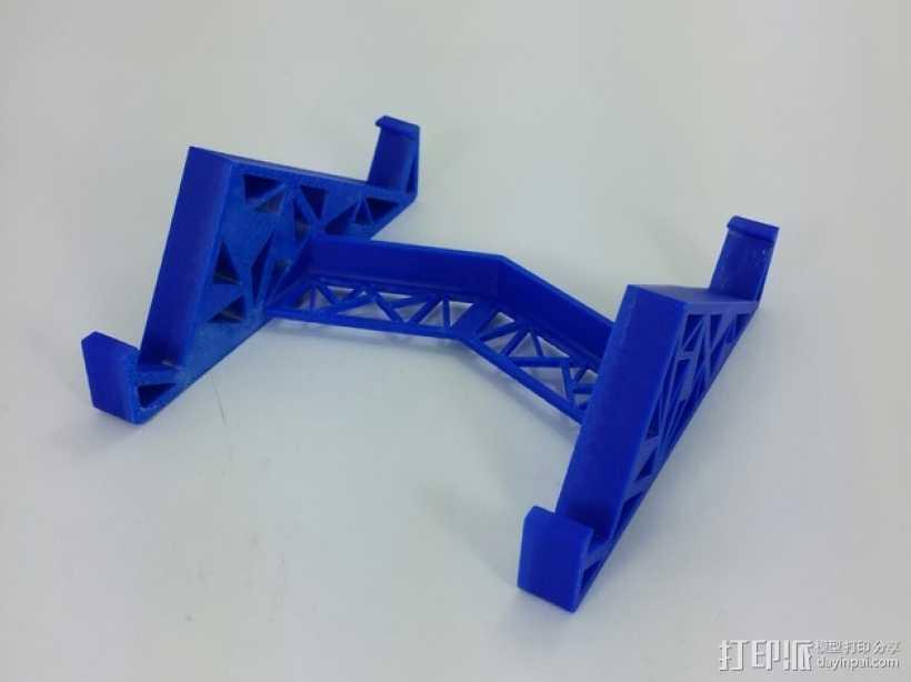 三角形平板站架 3D打印模型渲染图