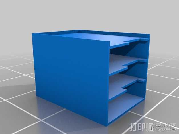 硬件放置盒 3D打印模型渲染图