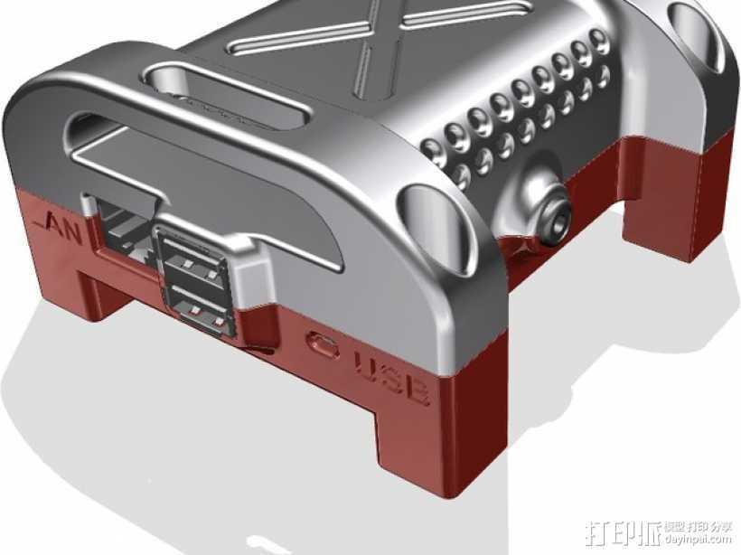 Raspberry Pi相机盒子 3D打印模型渲染图
