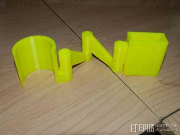 摄像头支架 3D打印模型渲染图