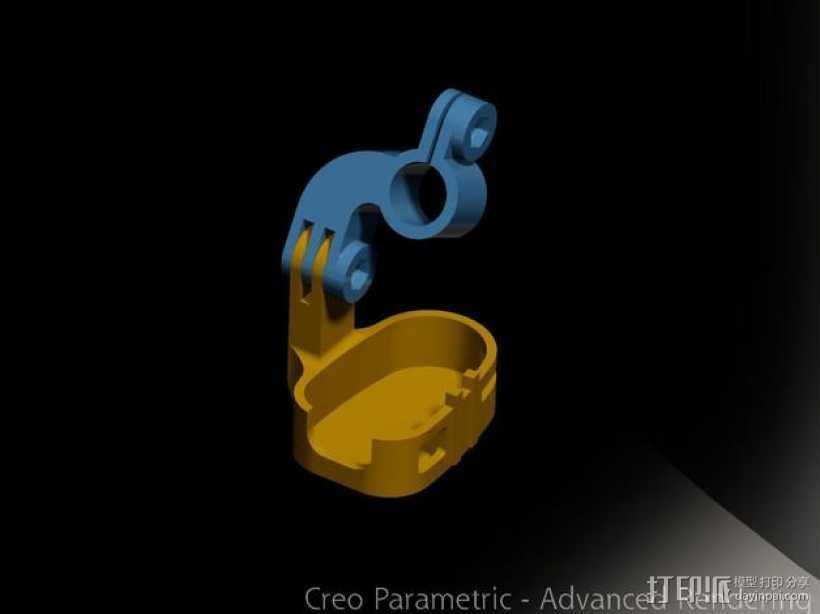 808 Keychain 相机适配器 3D打印模型渲染图