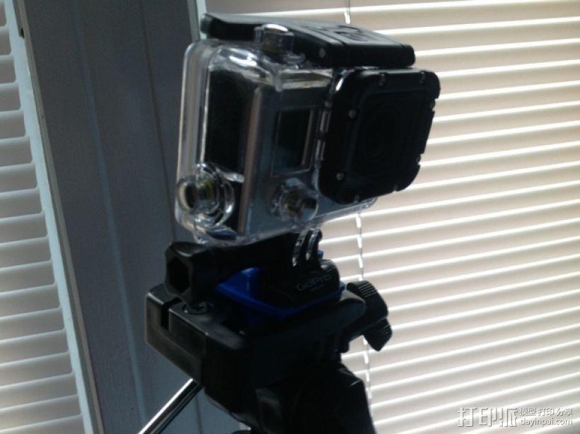 GoPro 三脚架适配器 3D打印模型渲染图