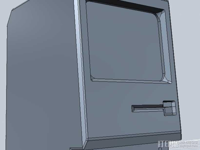Mac Plus 3D打印模型渲染图
