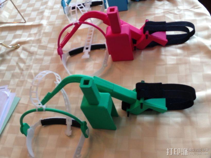 儿童动态头戴仪 3D打印模型渲染图