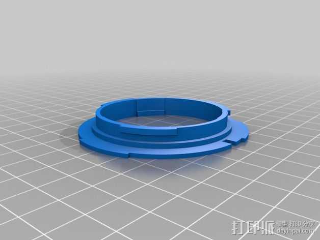 Canon EOS 镜头 3D打印模型渲染图
