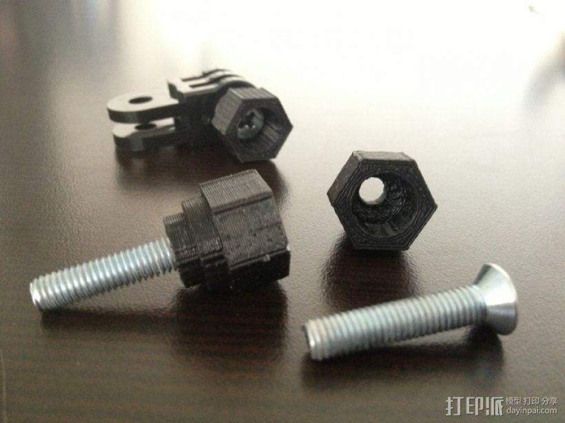 GoPro 螺丝 3D打印模型渲染图