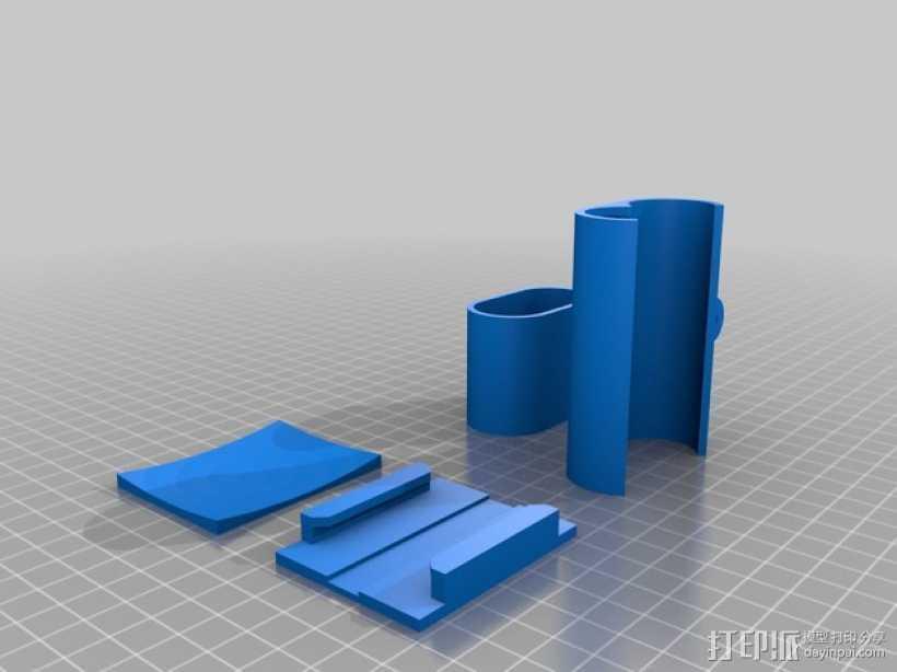 Sony Action Cam适配器 3D打印模型渲染图