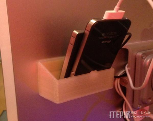 充电手机座 3D打印模型渲染图