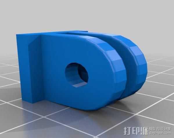 Go Pro 双配件 3D打印模型渲染图