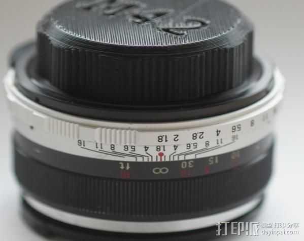 M42 镜头盖 3D打印模型渲染图
