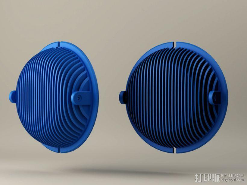 拜耳动态替换耳机罩 3D打印模型渲染图