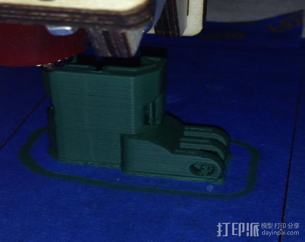 GoPro 适配器4 3D打印模型渲染图