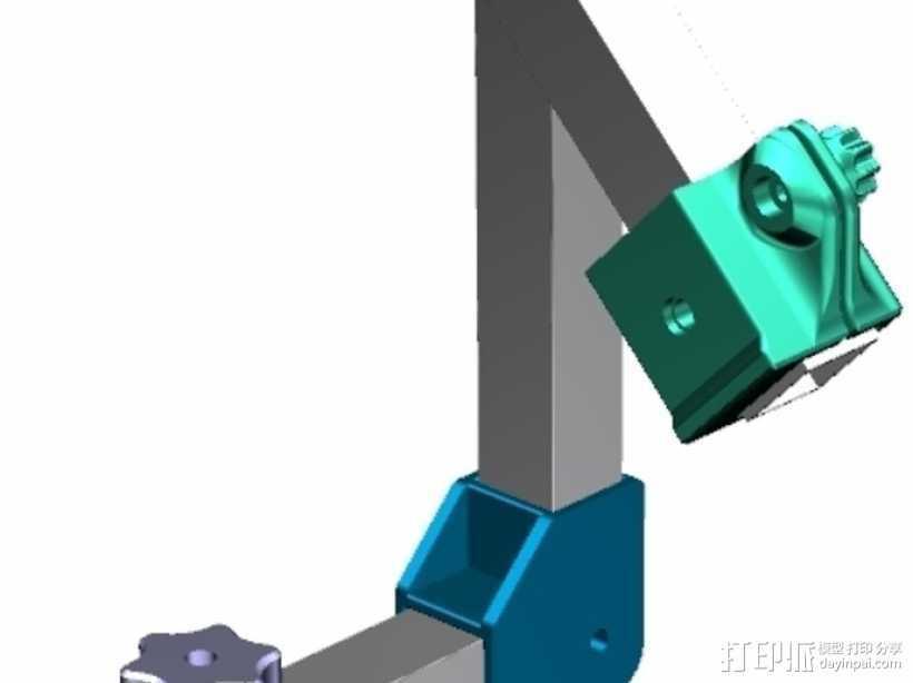 摄像机支架 3D打印模型渲染图