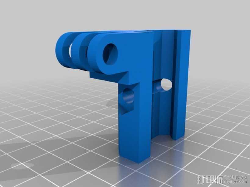 Gopro相机适配器V2 3D打印模型渲染图