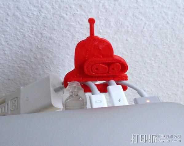 电线收纳器 3D打印模型渲染图