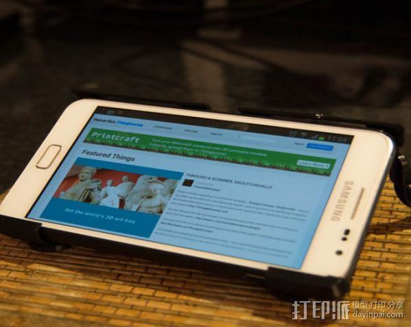 Samsung Galaxy Note手机座 3D打印模型渲染图