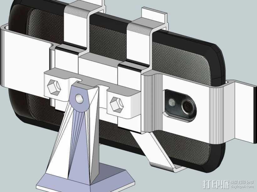 Galaxy Nexus手机座 3D打印模型渲染图