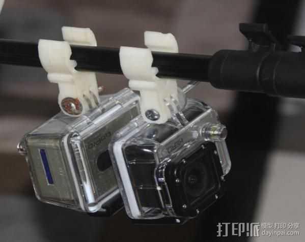GoPro 适配器 3D打印模型渲染图