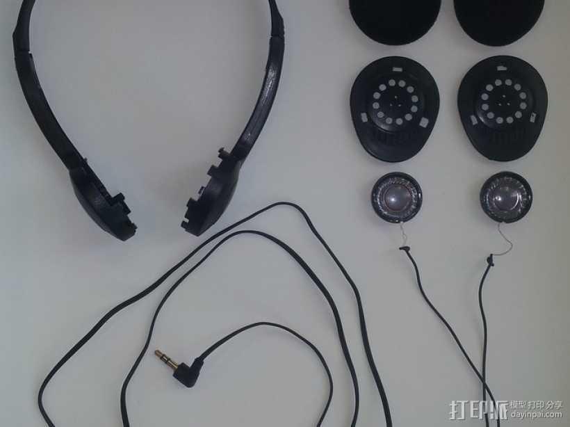 耳机扬声器 3D打印模型渲染图