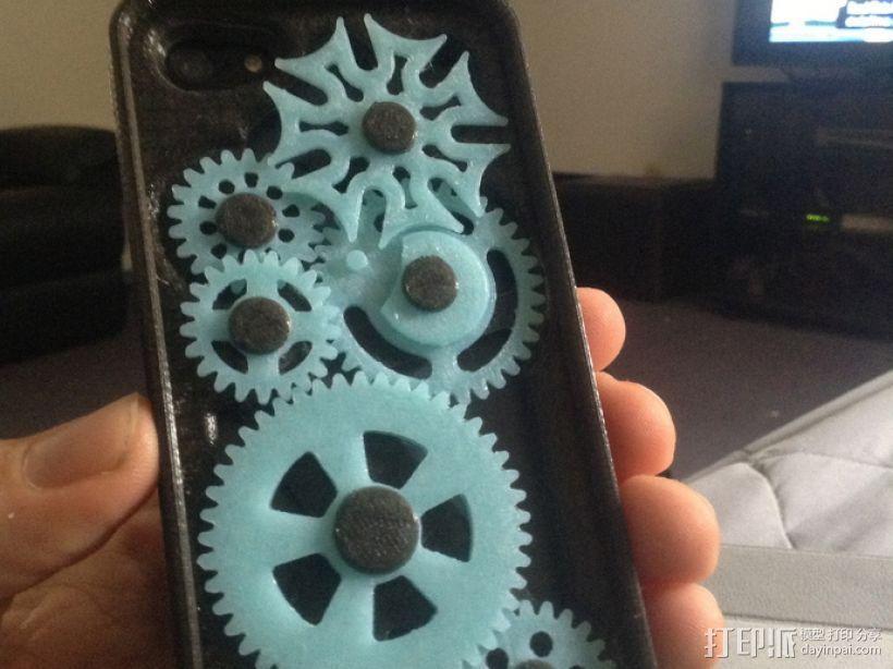 iPhone 5齿轮手机壳 3D打印模型渲染图