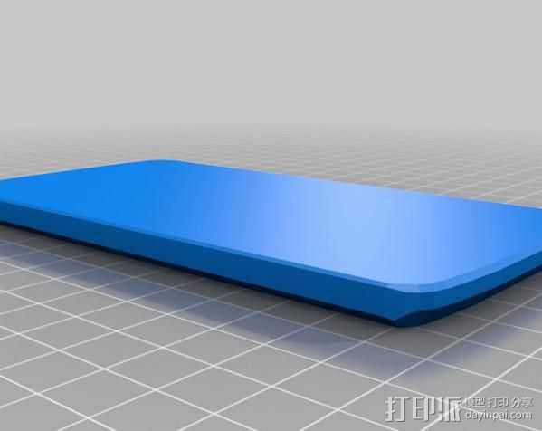 Nexus 4手机壳 3D打印模型渲染图