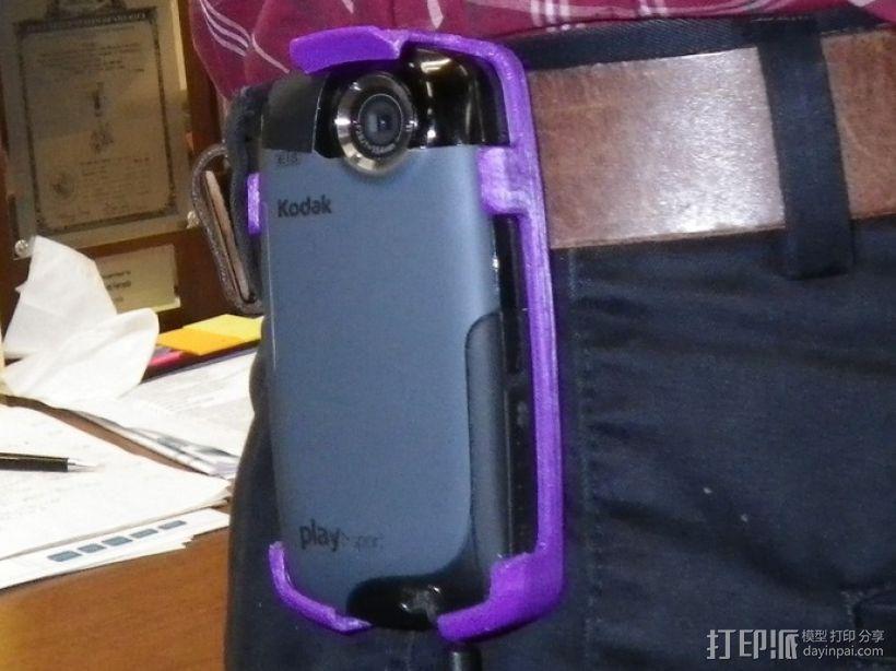 Kodak Playsport 皮带夹 3D打印模型渲染图