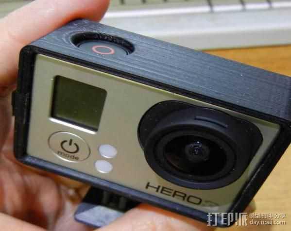 GoPro Hero3 保护壳 3D打印模型渲染图