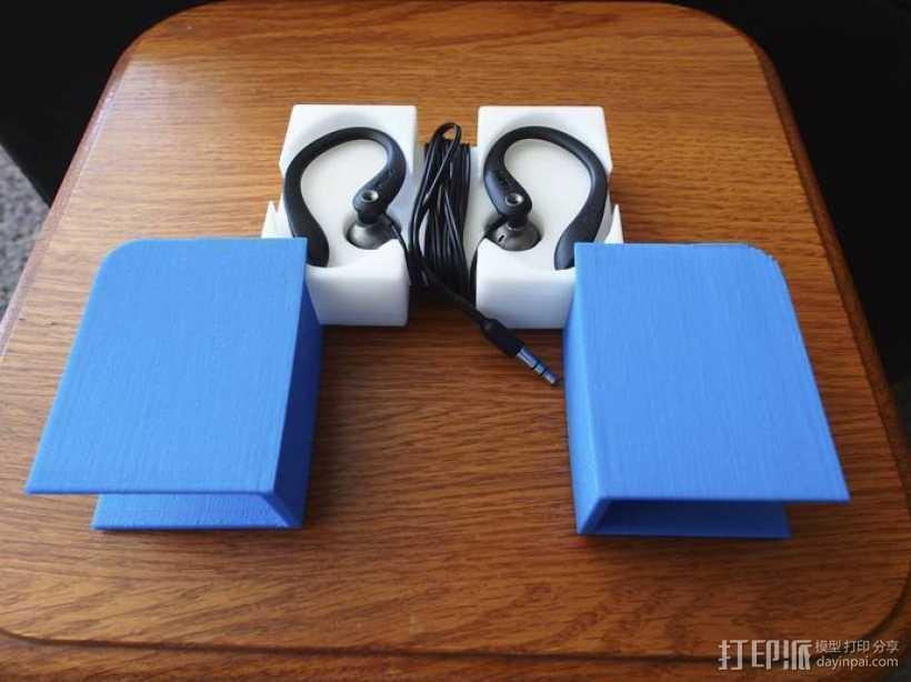 挂钩耳机收纳器 3D打印模型渲染图