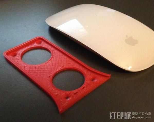 苹果鼠标适配器 3D打印模型渲染图
