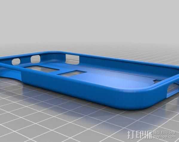 Samsung Galaxy SII手机壳 3D打印模型渲染图
