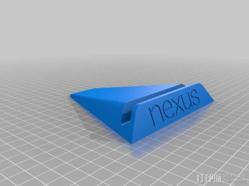 Nexus 7 手机座 3D打印模型渲染图