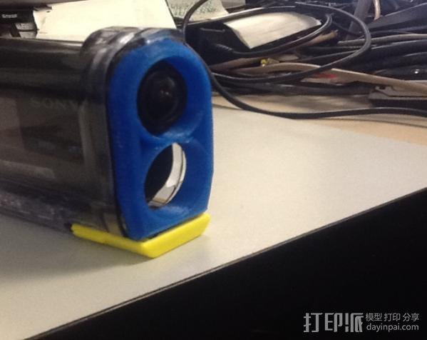 Sony Action Cam 镜头盖 3D打印模型渲染图