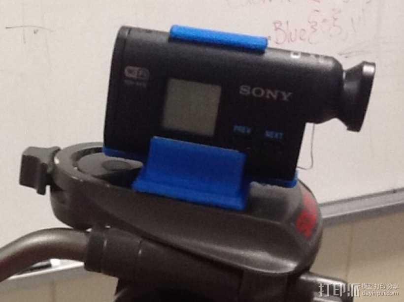 Sony Action Cam 适配器 3D打印模型渲染图